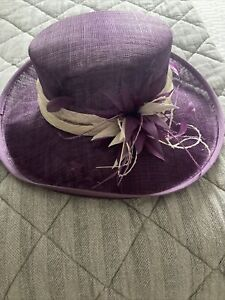 Purple mother of the bride hat