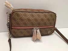 GUESS Messenger XBody Bag*Park Lane*Brown Multi Gold Chain Shoulder Purse New