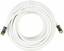 RG-6 Coaxial Cable 50 feet F-pin to F-pin Commercial Electric Compression, White