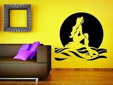 Wall Mural Sticker Decal Vinyl Decor Mermaid Fairy Ariel Cartoon Fish