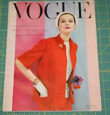 February Vogue 1955 Rare Vintage Vanity Fair Fashion Design Collection Magazine