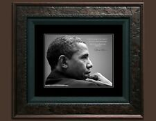 Barack Obama 8X10 Photo Fine Art Print Picture Famous Quote, A change is brought