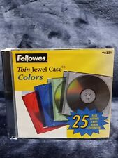 Fellowes Thin Jewel Case Colors 25 Pack NEW Sealed