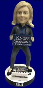 2021 KANE COUNTY COUGARS LESLIE KNOPE  BOBBLEHEAD PARKS AND RECREATION