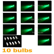 10 x bulbs T5 Instrument Cluster Panel Gauge Dash LED bulbs light -GREEN Color