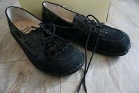 FINN COMFORT Wien Damen Schuhe Slipper Mokassins Gr.42 Nubuk Paranal schwarz NEU