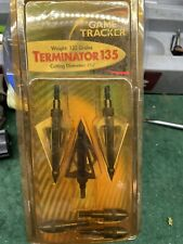 "The Game Tracker - Terminator 135 - 4-Blade - 135 Grain Broadheads - 1 3/16"" Cut"