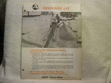 ARPS TRENCH-DEVIL L-12  c 1960 sales brochure