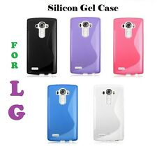 S line Wave Silicone TPU Gel Back Case Cover For Various LG Mobile Phones