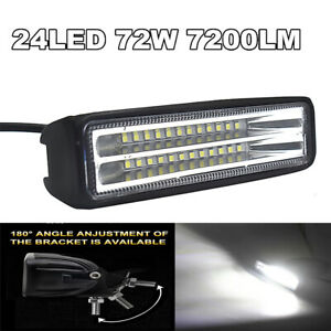 7200LM Car LED Work Light For Boat Truck Driving ATV UTE 4WD SUV Motorcycles etc