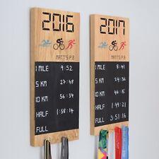 Personalised PB Medal Chalkboard Wall Display Wood Medal Board Medal display