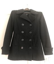 Gap Women's Peacoat Wool Black Double Breasted Size M (see description)