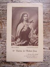 IMAGE PIEUSE ANCIENNE : Sainte Thérèse de l'Enfant Jésus - 1947