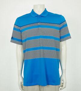 Adidas Golf Ultimate 365 Blue Tech Blend Golf Polo Shirt Mens Large