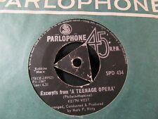 """KEITH WEST """"Excerpts from A Teenage Opera"""" Rare TRI MIDDLE SOUTH AFRICAN 7"""""""