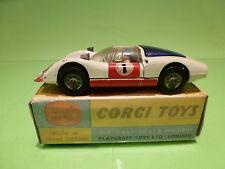 CORGI TOYS 330 PORSCHE CARRERA 6 - WHITE No 1 - 1:43 - GOOD CONDITION