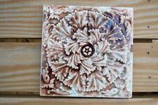 Antique Vintage Trent Tile, Trenton, NJ - Arts & Crafts, Art Pottery Tile, 6x6