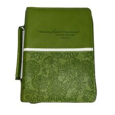 Christian Art Gifts Large Green Bible/Book Case Scripture Jeremiah 29:11