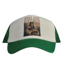 Hat Cap VB Victoria bitter MENS green Mesh back trucker Jesus died for our tins