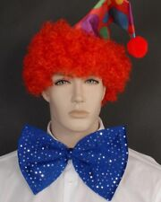Large Clown Blue Bow Tie One Size