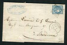 Rare lettre d'Oyonnax ( 1871 ) avec un n° 46A Report I