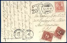 RUSSIA AUSTRIA GERMANY: 1907 Postcard w/Border Cancels Where 3 Countries Meet