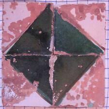 4 riggiole piastrelle mattonelle maioliche antiche Tiles 16,5x16,5 lotto721 215