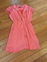 Anthropologie Maeve Sleeveless Dress Lined Size Small  Coral Color