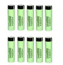 10pcs Genuine Panasonic NCR18650B 3400mAh Li-ion Rechargeable Battery Japan Made