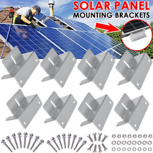 32in1 Set Solarmodul Halterung Befestigung Montage Alu Winkel Solar Panel Halter