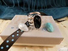 SILPADA R3062~Change of Art Ring ~ Sterling Silver Howlite & Agate ~ Size 8