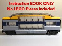 🌟LEGO Passenger Train Double Deck Carriage DESIGN  MOC Instruction Book ONLY