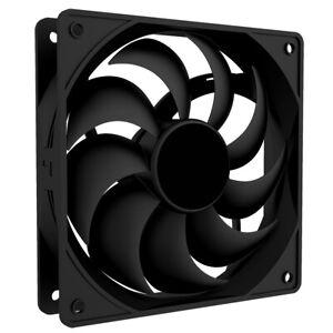 PC Case Fan 12cm 120mm 1200RPM, Black, 20.62 dBA, 47.8 CFM, 4 Pin Molex, 12v