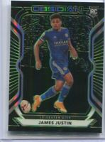 2020-21 Panini Obsidian Soccer James Justin Leicester City /25