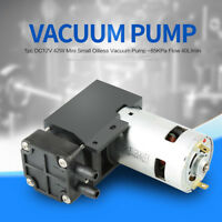 DC12V 42W Mini Pompe à vide Vacuum Pump Pompe à vide sans huile -85KPa 40L/min