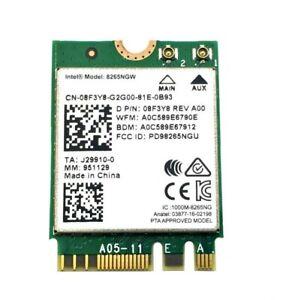 Intel Wireless AC Card 8265NGW 08F3Y8 8F3Y8 (C63)