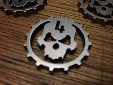WarHammer Objective Markers - Cog Skull - Stainless Steel - 30mm
