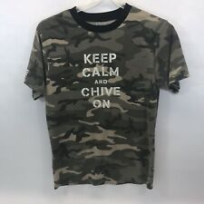 "Chive Tees Medium Camouflage T-Shirt ""Keep Calm And Chive On"""