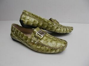 DIOR Women's Green Genuine Leather Moccasins Size 39 (EU)