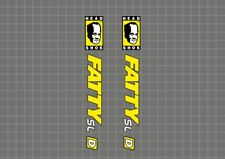 CANNONDALE Headshok Fatty SL D Forks Decals Stickers Graphic Set Adhesive Yellow