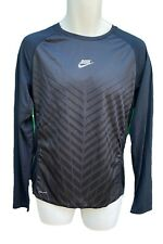 NIKE RUN Dri Fit Stay Cool Light Long Sleeved Running Workout Shirt Dark Blue M