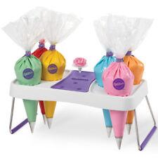 Wilton # 1186 Cake Decorating Bag Holder Flower Nail Grips Organize Icing Bags