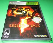 Resident Evil 5 Microsoft Xbox 360  *Factory Sealed! *Free Shipping!