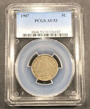 "1907 Liberty ""V"" Nickel PCGS AU-53, Buy 3 Get $5 Off!!!"