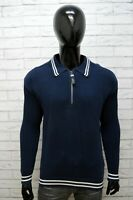 JOOP! Maglione Uomo Taglia XL Cardigan Pullover Blu Felpa Maglia Sweater Man