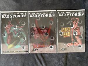 War Stories 1,2,3 NM/M Battle Damaged Edition