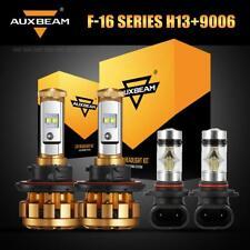 AUXBEAM H13 LED Headlight Kit Bulbs+9006 Fog for Dodge Ram 1500 2500 3500 06-09