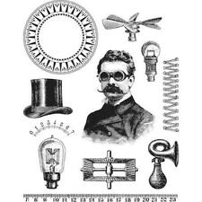 Tim Holtz Cling Rubber Stamps - The Professor CMS373