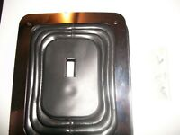 """HURST STYLE UNIVERSAL LARGE RUBBER SHIFTER BOOT W/CHROME PLATE 6 1/2"""" X 5 1/4"""""""