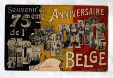 BELGIQUE / 75° ANNIVERSAIRE de l'INDEPENDANCE BELGE , voyagée en 1905